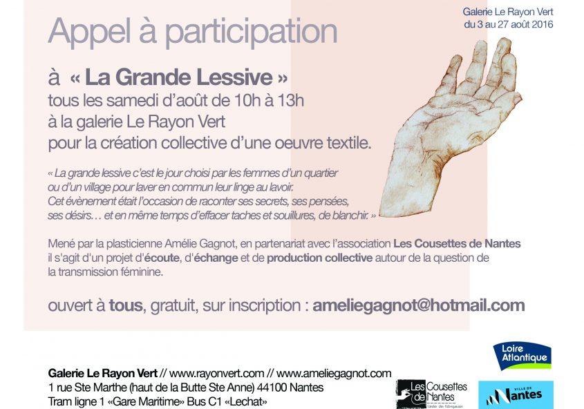 atelier de création textile participatif
