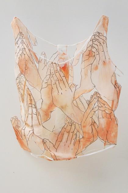 installation textile en volume