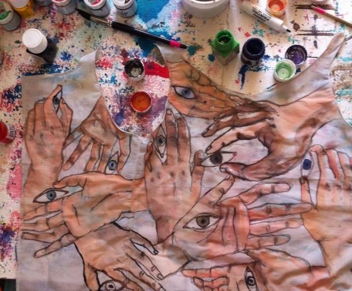 création textile en préparation